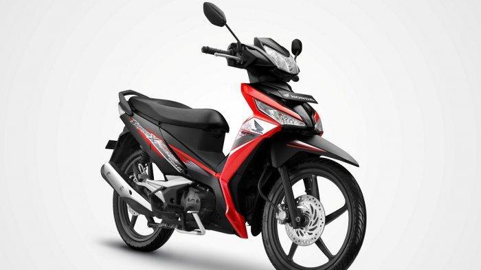 Honda Supra X 125 FI striping baru. (HANDOUT)