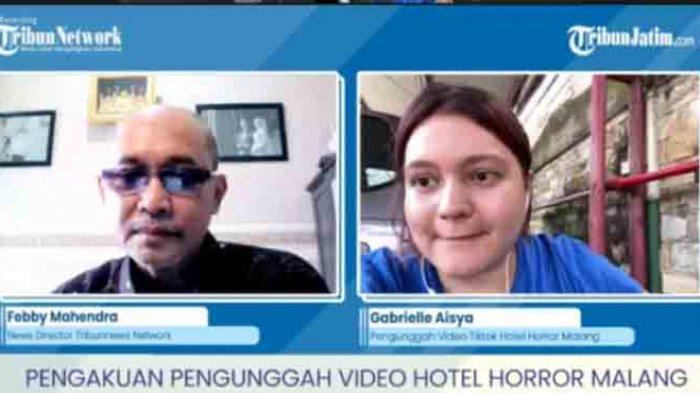 Gabrielle Aisya kreator video membantah adanya settingan di video Hotel Niagara yang diunggahnya. Bantahan ini disampaikan dalam wawancara eksklusif bersama News Director Tribun Network sekaligus Pimred Harian Surya, Febby Mahendra Putra,