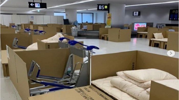 Hotel kardus di Bandara Narita Jepang