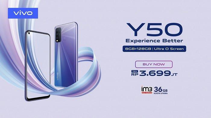 Vivo Indonesia secara resmi menghadirkan seri-Y terbaru, yaitu Y50 yang mengusung memori RAM dan ROM dengan kapasitas besar serta desain Ultra O Screen untuk pengalaman visual terbaik