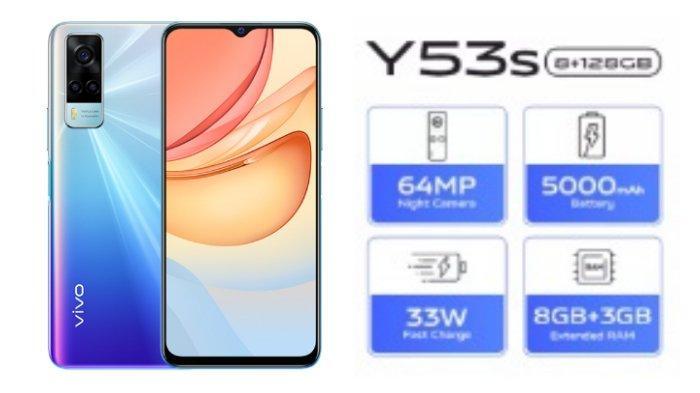 Harga dan Spesifikasi HP Vivo Y53s, Dibekali Kapasitas RAM 11 GB hingga Baterai 5000 mAh