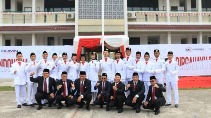Kolaborasi 3 BUMN Askrindo, PTPN XIII dan Perum Perindo Gelar Upacara Bendera di Mempawah