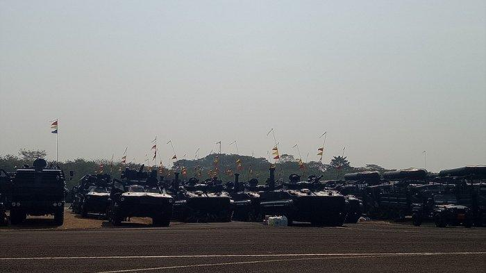 Alutsista modern yang akan ditampilkan pada HUT ke-74 TNI di Taxy Way Echo Lanud Halim Perdanakusuma, Jakarta, Sabtu (5/10/2019).