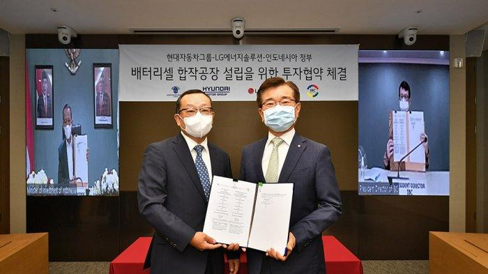 Hyundai dan LG Investasi 1,1 Miliar Dolar AS untuk Bangun Pabrik Sel Baterai Kendaraan Listrik di RI