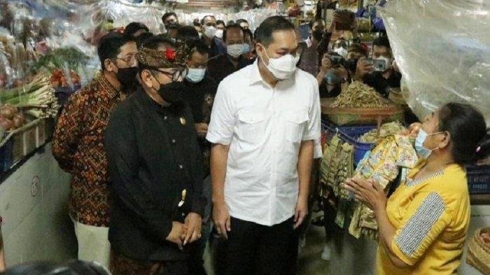 Walikota Denpasar Dampingi Menteri Lutfi Persiapan Terapkan SOP Peduli Lindungi di Pasar Tradisional