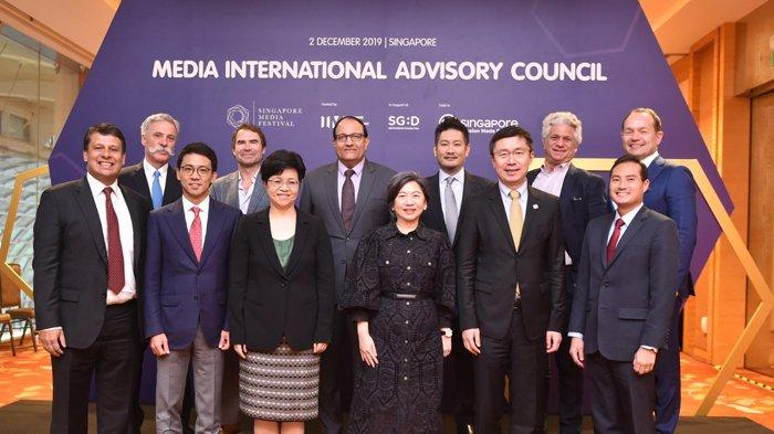 Anggota International Advisory Council (IAC) terpilih berpose dalam gelaran Singapore Media Festival.  Sumber foto SMF 2019.