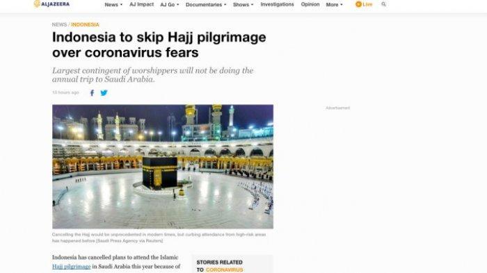 Media Asing Soroti Pembatalan Ibadah Haji 2020 di Indonesia
