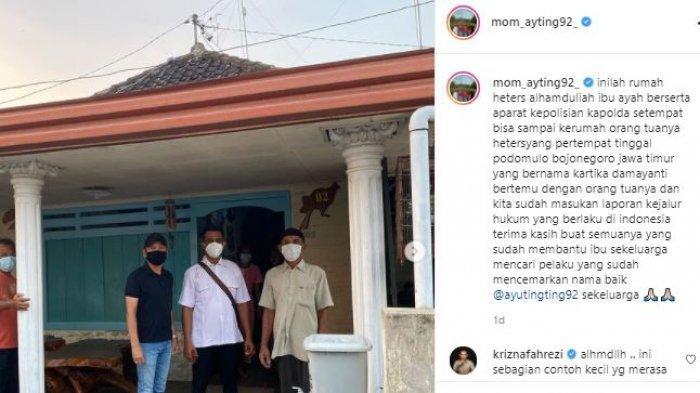 Ibu Ayu Ting Ting berkunjung ke rumah pelaku pembully anaknya
