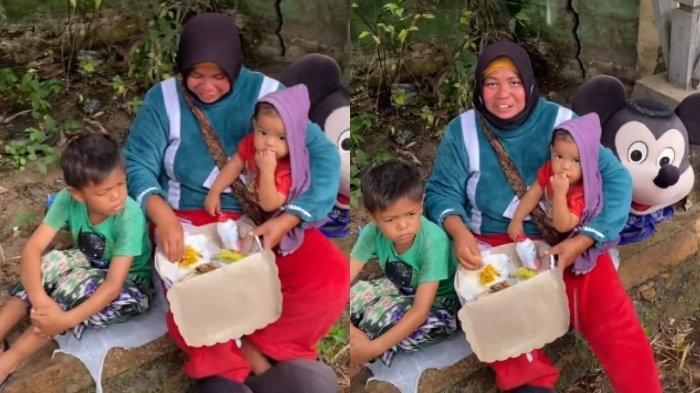 ibu dan anak berteduh 2