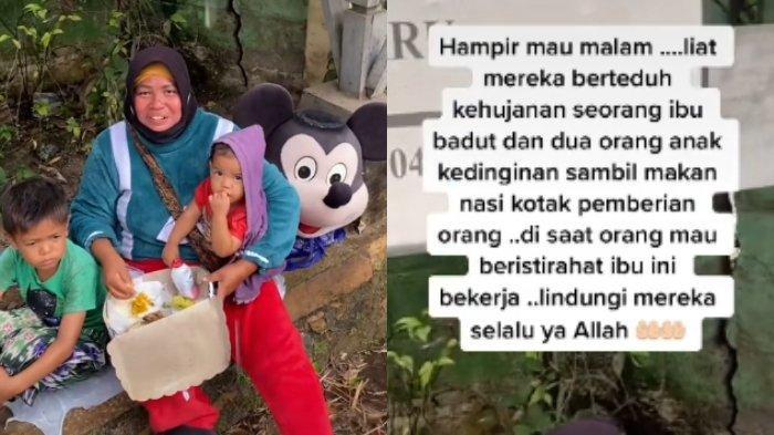 Sedang Suapi Anak Ketika Berteduh, Ibu Berkostum Badut Ini Dapat Rezeki Tak Terduga, Kisahnya Viral
