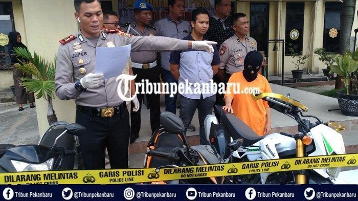 'Emak-emak' Jadi Tukang Tadah Sepeda Motor Curian, Ditangkap Kerena Laporan Narkoba