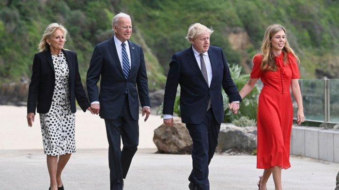 Ini Istri Para Pemimpin G-7: Carrie Johnson Mulai Debut di Panggung Global