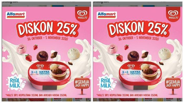 Ice Cream Wall S 3in1 Neopolitana Dan Avocado Mocha Kemasan 350 Ml Di Alfamart Diskon 25 Tribunnews Com Mobile