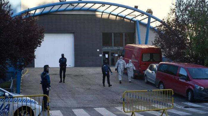 Spanyol Kewalahan Tangani Korban Corona, Arena Skating di Madrid Jadi Kamar Mayat Darurat