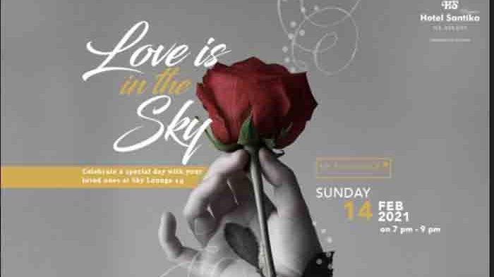Valentine Berkesan, Nikmati Dinner di Rooftop Sky Lounge 15, Hotel Santika Premiere ICE-BSD City