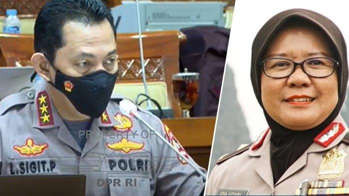 Brigjen Ida Utari, polwan bintang satu yang mendampingi Komjen Listyo Sigit Prabowo saat menjalani fit and proper test oleh anggota Komisi III DPR RI.