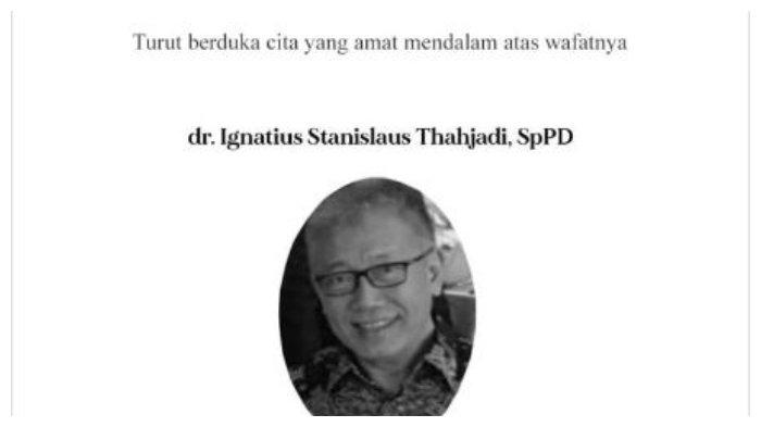 IDI Berduka, Dokter IS Tjahjadi Meninggal Dunia, Berstatus PDP Covid-19