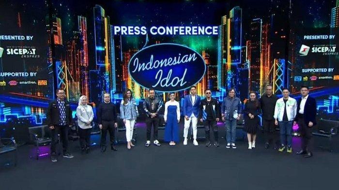 Tangkap layar jumpa pers Indonesian Idol Special Season jelang result show malam ini, Senin (26/4/2021).