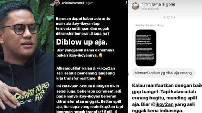 Arief Muhammad Kesal Ada Artis yang Bikin Ikoy-Ikoyan Settingan, Gak Ditransfer
