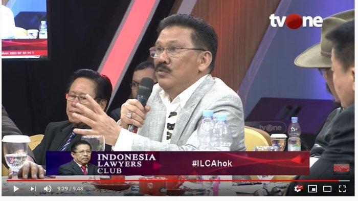 Ilham Bintang dalam acara Indoensia Lawyers Club tvOne, Selasa (26/11/2019). (Tangkap Layar tvOne) (tvOneNews)