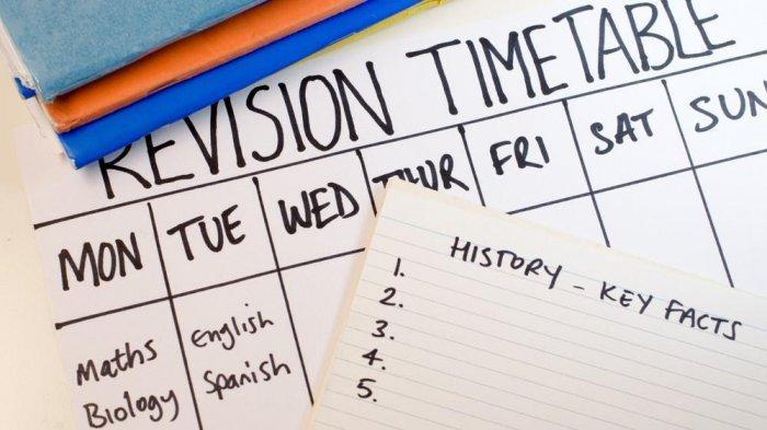 Ilustrasi agenda dan jadwal belajar.