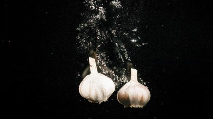 ilustrasi air rendaman bawang putih