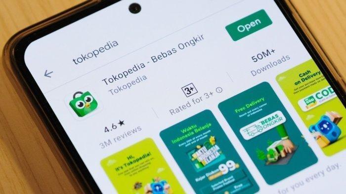 Ilustrasi aplikasi Tokopedia.