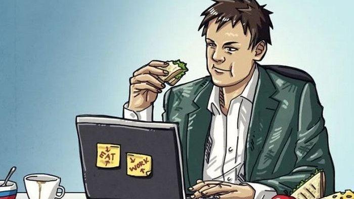 Bekerja Terlalu Serius Justru Bisa Bikin Tubuh Jadi Gendut