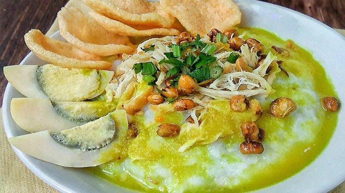 Ilustrasi bubur ayam enak di Jogja untuk sarapan