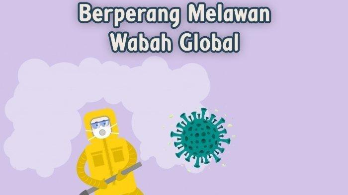Ilustrasi berperang melawan virus.