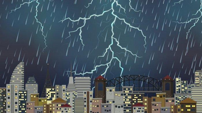Peringatan Dini Cuaca Ekstrem Bmkg 19 Januari 2021 Waspada Hujan Lebat Di 18 Wilayah Tribunnews Com Mobile
