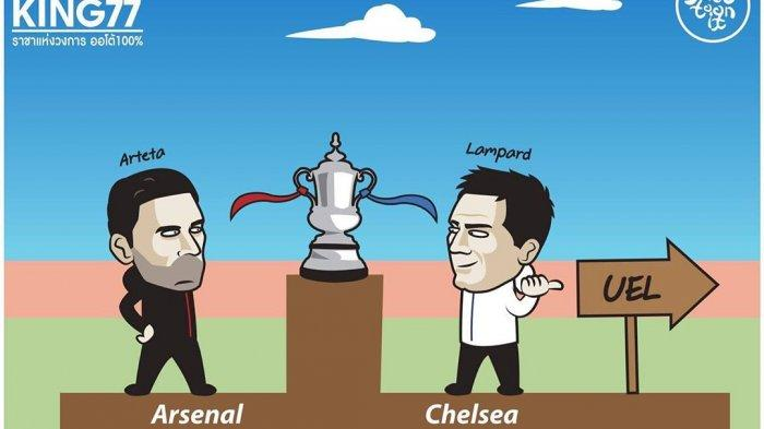 Ilustrasi: Final Piala FA antara Arsenal vs Chelsea di Stadion Wembley