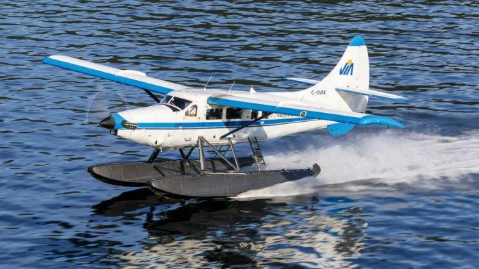 ILUSTRASI floatplane atau pesawat terbang laut