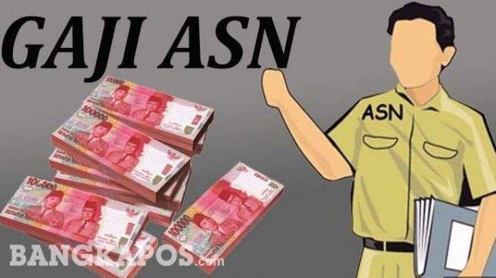 Ilustrasi gaji PNS atau ASN.