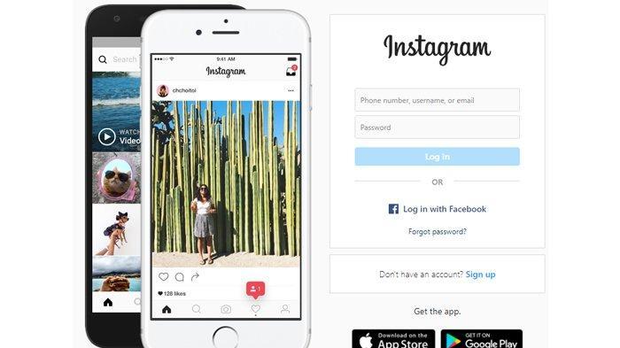 Tangkap Layar Home Page Instagram Dekstop