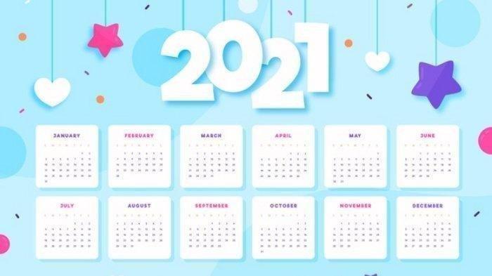 Ilustrasi Kalender 2021.