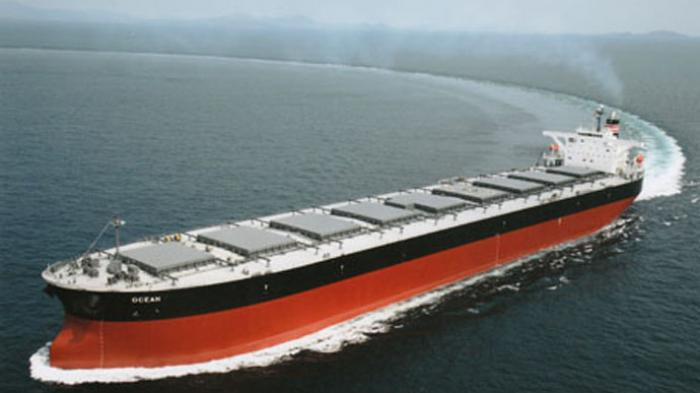 Ilustrasi Kapal Kargo lintas samudera.