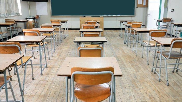 Ilustrasi kelas di sekolah.
