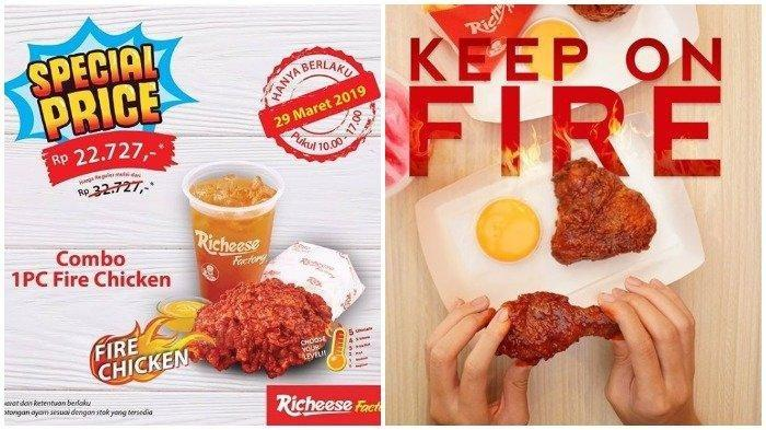 Cuma Satu Hari! Richeese Factory Tawarkan Combo Fire Chicken Cuma Rp 22 Ribuan, Cek Syaratnya
