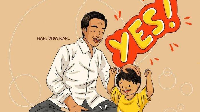 Ilustrasi Komik Diunggah di Media Sosial Jokowi, Sampaikan Pesan 'Berani Mencoba, Berani Berubah'