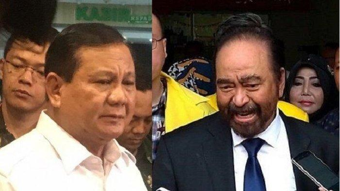 Deretan Fakta Pertemuan Surya Paloh & Prabowo, dari Diplomasi Soto Mie hingga Potong Pembicaraan