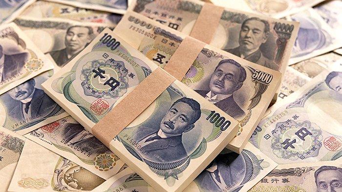 Ilustrasi mata uang yen Jepang.
