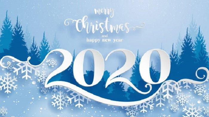 Ilustrasi Natal dan Tahun Baru 2020
