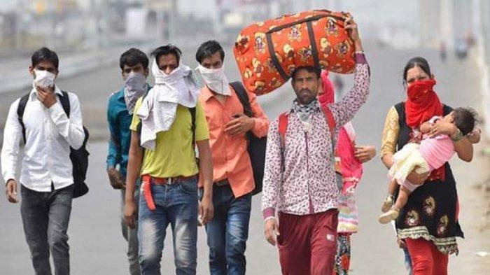 Ilustrasi pekerja di India.