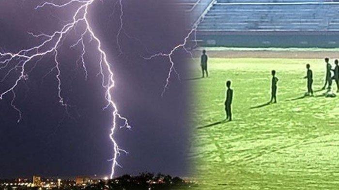Insiden Pemain Bola Meninggal Karena Tersambar, Petir di Indonesia Termasuk yang Berkekuatan Besar