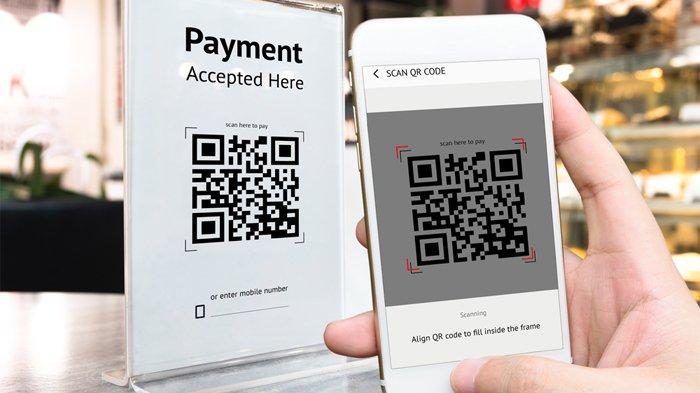 Ilustrasi pembayaran dengan uang elektronik