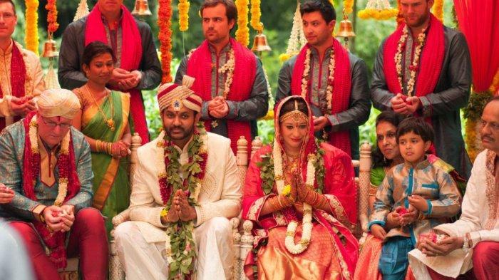 Ilustrasi pernikahan di India.
