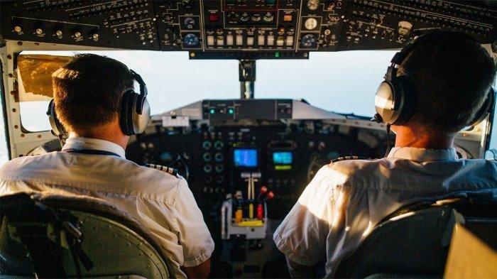 Ilustrasi pilot di kokpit