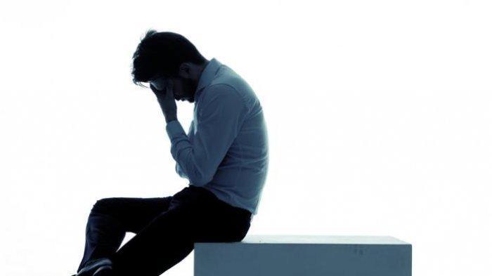 Ilustrasi Pria Depresi