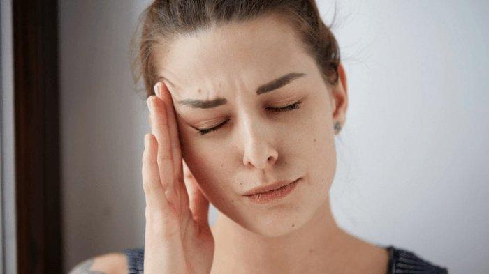 Ilustrasi sakit kepala atau pusing.